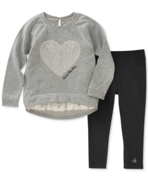 Calvin Klein 2Pc Tunic  Leggings Set Little Girls (46X)
