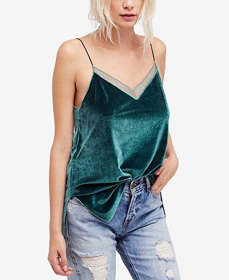 Free People Adjustable Velvet Camisole