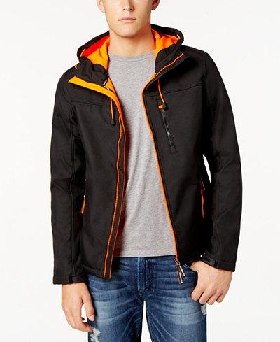 Superdry Men's Hooded Zip-Front Windbreaker