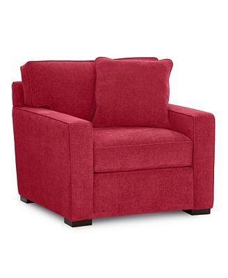radley fabric living room chair, created for macy's: custom colors