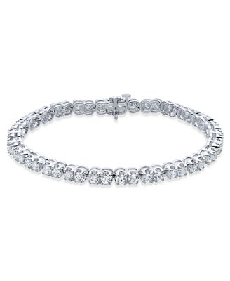 Diamond Scalloped Edge Tennis Bracelet (5 ct. t.w.) in 14k White Gold