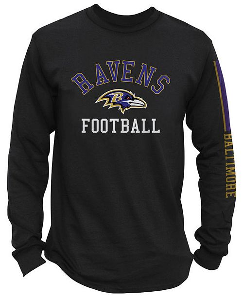 Nice Authentic NFL Apparel Men's Baltimore Ravens Spread Formation Long  hot sale