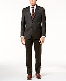 Lauren Ralph Lauren Men's Classic-Fit Olive Donegal Flannel Ultraflex Suit