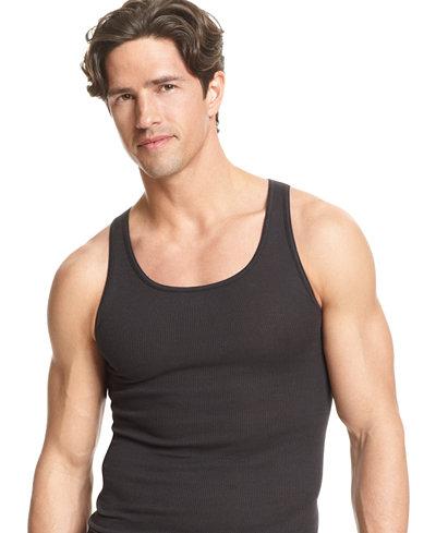 Alfani Men's Underwear, Tagless Tank Top 4 Pack - Underwear ...