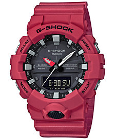 G-Shock Men's Analog-Digital Red Resin Strap Watch 49mm