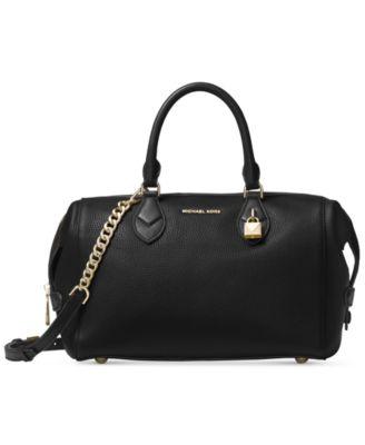 michael kors black satchel macys rh sharifahalal com