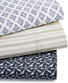 CLOSEOUT! Lucky Brand 230-Thread Count Cotton Printed Sheet Sets, Created for Macy's