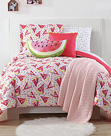 Laura Hart Kids Fruity Reversible 3-Pc. Printed Full/Queen Comforter Set
