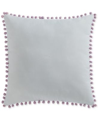 "Kids Unicorn Princess Pom Pom 18"" Square Decorative Pillow"