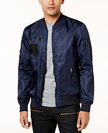 GUESS Men's Nylon Patch Jacket