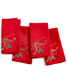 Lenox Holiday Nouveau Cutwork Set of 4 Square Napkins