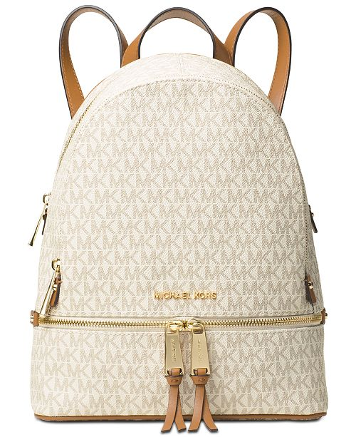 a84415d21714 Michael Kors Signature Rhea Zip Medium Backpack & Reviews - Handbags ...
