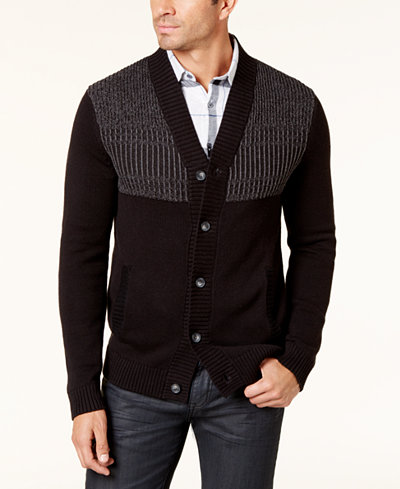 Alfani Men's Button-Up Cardigan, Created for Macy's - Sweaters ...
