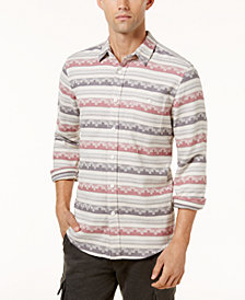 American Rag Men's Geometric Striped Shirt, Created for Macy's