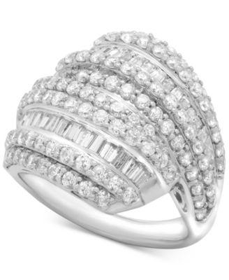 Diamond Drop Earrings (2 ct. t.w.) in Sterling Silver, Created for Macy's
