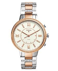 Women's Tech Virginia Two-Tone Stainless Steel Bracelet Hybrid Smart Watch 36mm