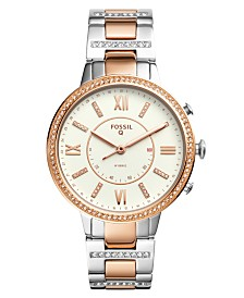 Fossil Women's Tech Virginia Two-Tone Stainless Steel Bracelet Hybrid Smart Watch 36mm