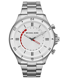 Michael Kors Access Men's Reid Stainless Steel Hybrid Smart Watch  45mm