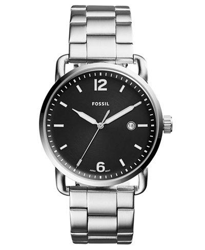 Fossil Men's Commuter Stainless Steel Bracelet Watch 42mm