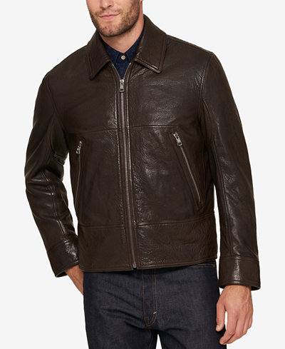 Andrew Marc Men's Leather Bomber Jacket