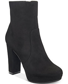 Bar III North Platform Ankle Booties, Created For Macy's