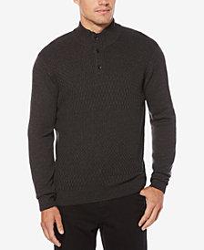 Perry Ellis Men's Button Collar Sweater
