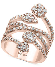 Pavé Rose by EFFY® Diamond Vine Statement Ring (1-3/8 ct. t.w.) in 14k Rose Gold
