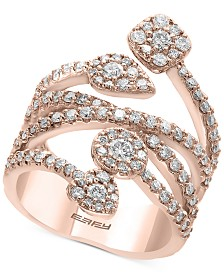 Pavé Rose by EFFY® Diamond Vine Statement Ring (1-3/8 ct. t.w.) in 14k Rose Gold