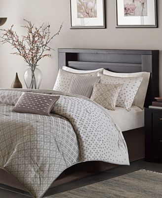 Biloxi 7-Pc. Geometric Jacquard Queen Comforter Set