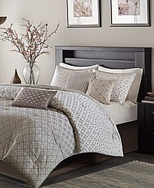 Biloxi 7-Pc. Geometric Jacquard King Comforter Set