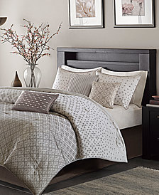 Madison Park Biloxi 7-Pc. Geometric Jacquard King Comforter Set