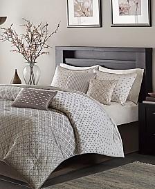 Madison Park Biloxi 7-Pc. Geometric Jacquard Queen Comforter Set