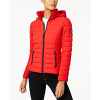 Nautica Stretch Hooded Packable Puffer Coat (Multi Colors)