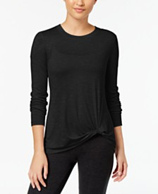 Ideology Knotted Long-Sleeve Top, Created for Macy's