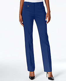 JM Collection Petite Tummy-Control Curvy Fit Slim-Leg Pants, Created for Macy's
