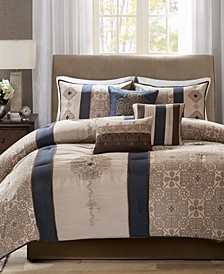 Donovan 7-Pc. Medallion Jacquard California King Comforter Set