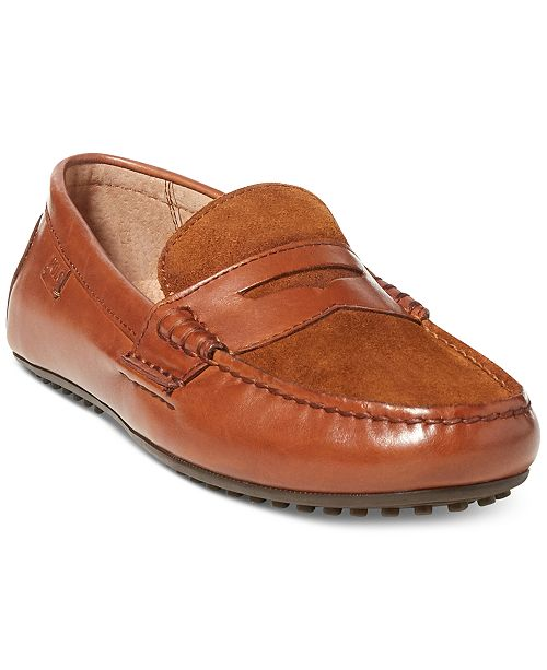 Polo Ralph Lauren Wes (Deep Saddle Tan) Mens Slip on Shoes With Credit Card For Sale Inexpensive 2018 Sale Online Free Shipping For Nice Store Online SnD14fwo
