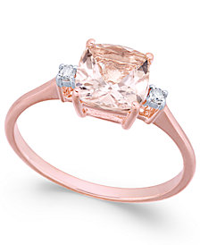 Morganite (1-1/3 ct. t.w.) & Diamond Accent Ring in 14k Rose Gold