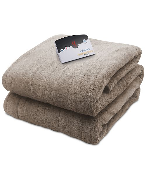 Biddeford Microplush Heated Full Blanket