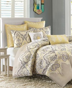Madison Park Nisha Cotton Sateen 7Pc KingCalifornia King Comforter Set Bedding