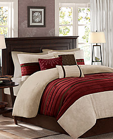 Madison Park Palmer Microsuede 7-Pc. Queen Comforter Set