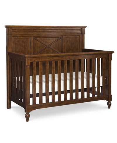 Big Sur by Wendy Bellissimo 4-In-1 Convertible Baby Crib (Convertible Crib, Toddler Daybed & Guard Rail, Bed Rails & Slat Roll)