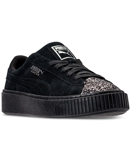a8edf2b718e ... Puma Women s Suede Platform Crushed Gem Casual Sneakers from Finish ...