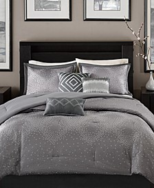 Quinn 7-Pc. Geometric Jacquard California King Comforter Set