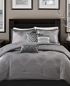 Madison Park Quinn 7-Pc. Geometric Jacquard King Comforter Set