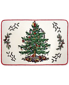 CLOSEOUT! Avanti Spode Christmas Tree Bath Rug