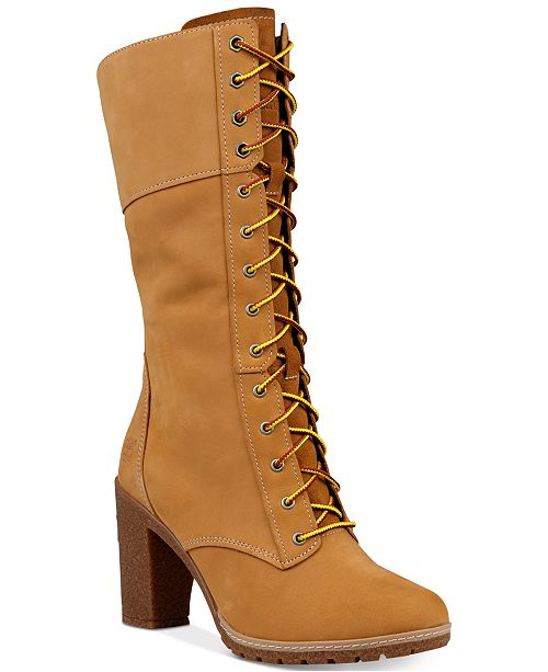 c19bb4d0dd63 Timberland Women s Glacy Lace-Up Block-Heel Boots   Reviews - Boots ...