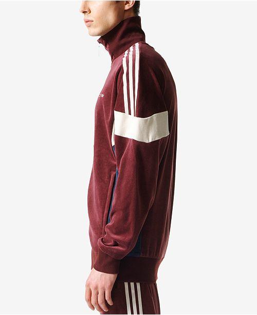 8835442597ce ... adidas adidas Men s Originals Challenger Velour Track Jacket ...