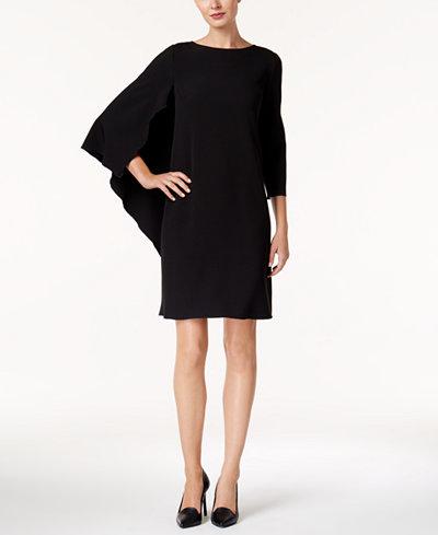 Anne Klein Cape Sheath Dress