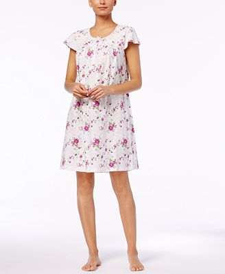 Charter Club Lace Printed Cotton Nightgown, Created for Macy's